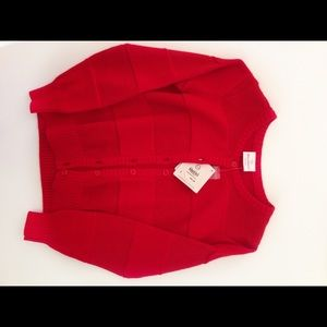 Kids Red Cardigan